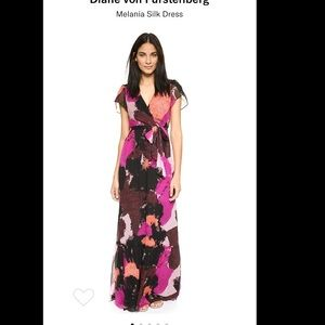 DVF Melania Silk Dress (Size 4)